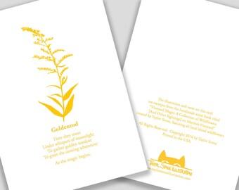 Goldenrod Flower Card with Poem