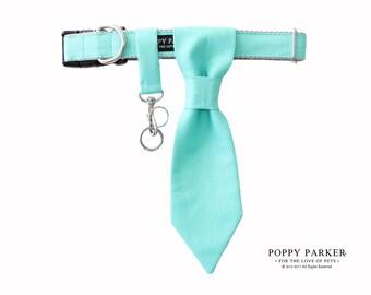 Customizable Wedding Dog Tie - Aqua - Dog Ring Bearer - Dog Of Honor - Best Dog - Choose Your Color