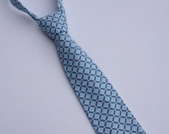 Boys Neck Tie, Infant Neck Tie, Toddler Neck Tie, Blue Neck Tie