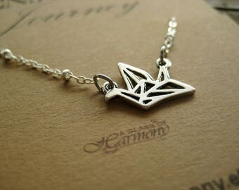 GRADUATION GIFT - Graduation Necklace, Graduation Jewelry, Gift for grad, Oragami Bird Necklace, Graduation gift for her, Inspiration Gift