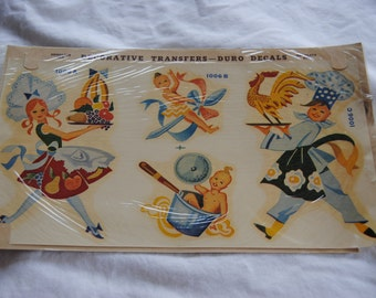 Decorative Transfers Duro Decals/Mid Century/1950/ 1 sheet/Upcycle Furniture