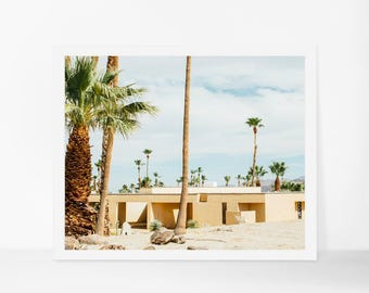 Palm Springs Print, Mid Century Modern Home Decor, California Wall Art, Palm Springs Photography, Landscape Photography, Palm Tree Print