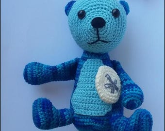Ready to Ship - Blue Sea Otter Crocheted Stuffed Animal