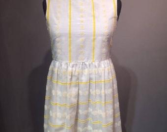 Cotton White & Yellow Dress