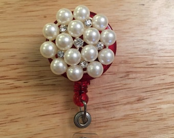 Pearly Retractable Badge Reel