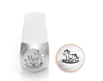 6mm rocking horse metal design stamp , horse metal punch