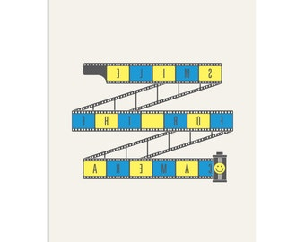 Smile For The Camera - a photography & nostalgia inspired, limited edition screenprint