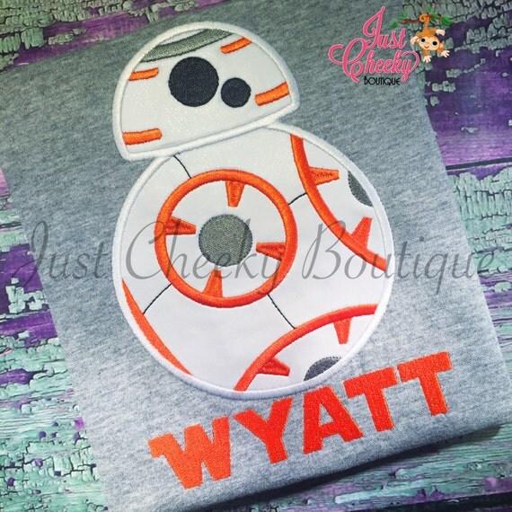 BB8 Inspired - Star Wars Inspired - Kids Embroidered Shirt - Force Friday Shirt - The Force Awakens - Star Wars Birthday Shirt