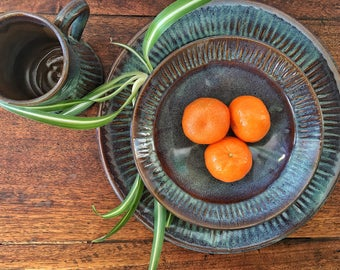 Handmade Pottery Placesetting, Pottery Dishes