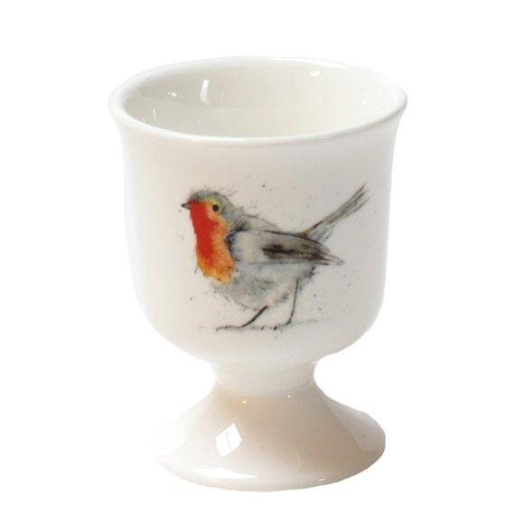 Robin Egg Cup Fine Bone China Country Kitchen Woodland