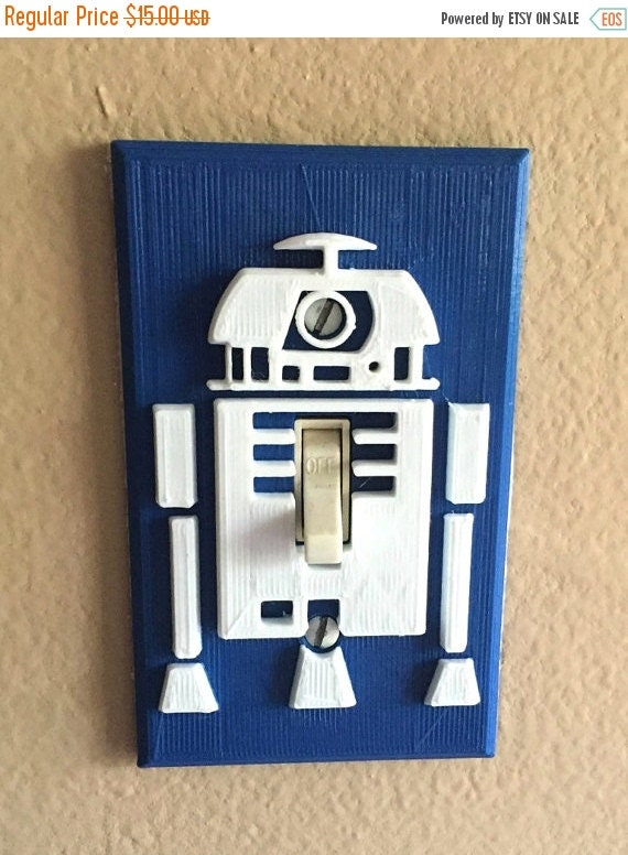 Star Wars R2d2 Light Switch Cover 3d Printed By