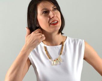 Statement boho necklace.