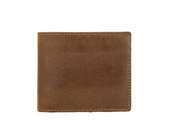 Mens Wallet Brown Genuine Leather Handmade Windsor-7039