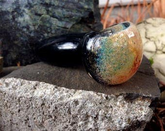 Beautiful Black Color Changing Glass Pipe