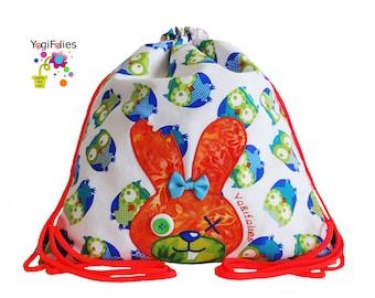 Backpack, children backpack, fabric backpack, rabbit, zombie, owl