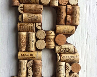 Handmade Letters and symbols made of Wine Corks