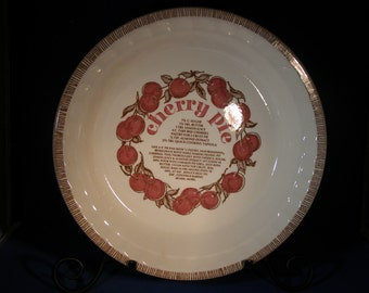 Royal China Jeannette Cherry Pie Baker Pan