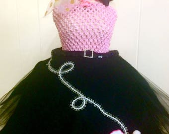 Poodle Skirt Tutu Ready2Ship Perfect for: Pageant, Outfit of Choice, Special occasion, tutu, decade tutu, 50's wear, Halloween costume