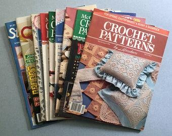 Lot of 9 Vintage Crochet Pattern Books 1981-1993
