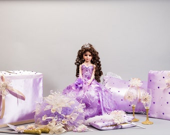 Lovely Lavender and Gold Quinceañera Package/Sweet 16 Package