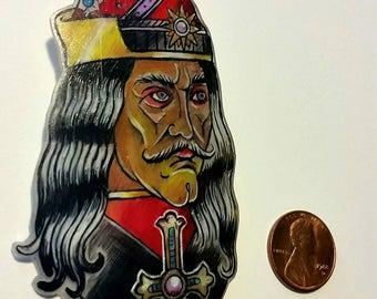 Dracula Vlad the Impaler Shrinky Dink Pin