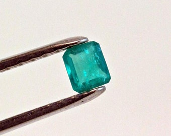 4.5mm Square Cut Natural Colombian Emerald Loose Gemstone