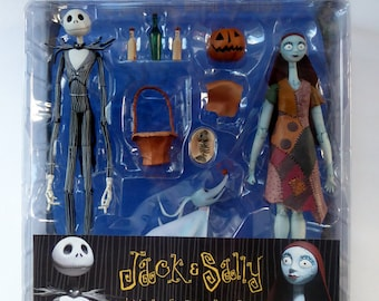 Extremely Rare Sealed Jack & Sally Figurines: Tim Burton's Night Before Christmas