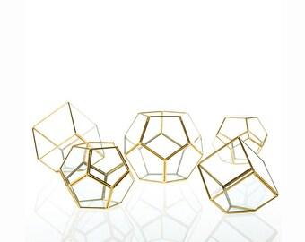 Geometric Glass Terrarium, Modern Planter, Wedding Centerpiece, Air Plant Terrarium, Succulent Planter, Hexagonal Planter, #GiftsforHer