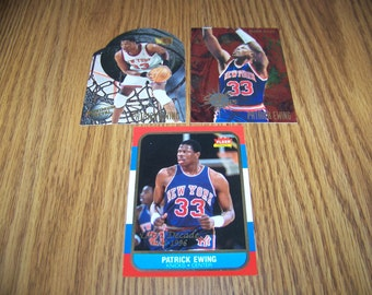3 Vintage Patrick Ewing (New York Knicks) Insert Cards