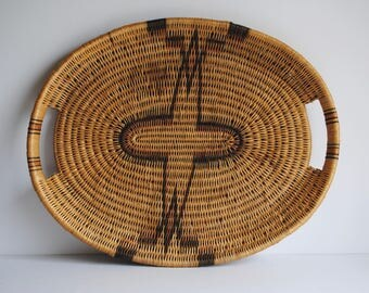 25% OFF SALE - Handwoven Basket Tray