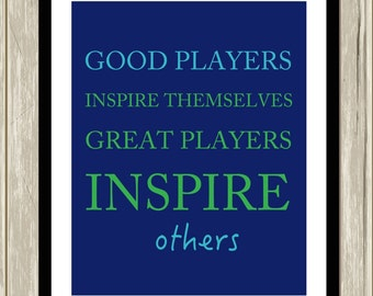 Sports wall art, sports motivational art, boys inspirational quote, gift for teen boy, typography art for kids, teen art, choose your colors