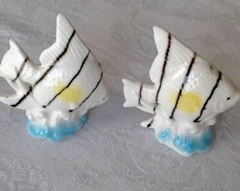 Miniature striped Angelfish salt & pepper shakers