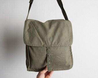 Army Bag, Military Shoulder Bag, Vintage Messenger Bag, Army Shoulder Bag, Unused Bag, Mans Bag, Him mb098