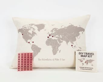 Map Pillows Etsy - Us map pillow personalized