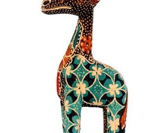 Batik Wooden Giraffe from Java