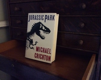 Jurassic Park by Michael Crichton - 1990 First Trade Edition
