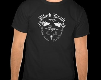 Black Death 777 - Catskill Mountain Lager S-5XL  Enjoy the Wild elk deer buck stag beer brew shirt hunter gift brewery cool shirt