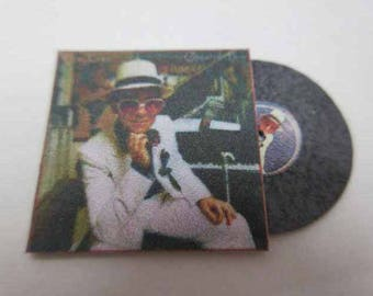 Record Album Elton John's Greatest Hits - dollhouse miniature 1:12 scale