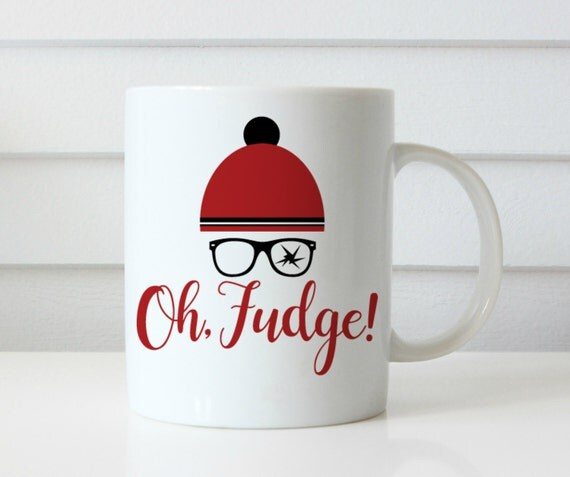Oh fudge ralphie coffee mug christmas story coffee mug you'll shoot your eye out christmas coffee mug gift idea coffee cup funny coffee cup