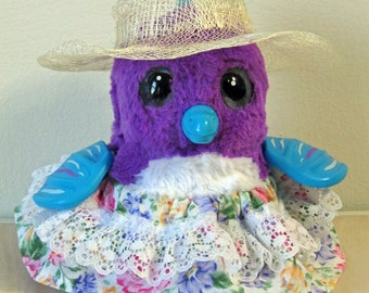 Clothes for HATCHIMALS - English Garden Dress with Straw Hatt - fits most hatching egg toys