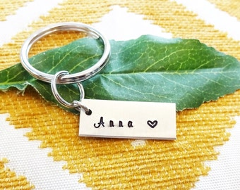 "NAME or DATE KEYCHAIN -Add on charms in ""add on upgrade"" section - Read item ""details"" see all photos - one flat rate shipping in my shop :)"