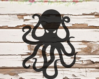 Octopus with eyes, SVG, PNG, DXF files, instant download
