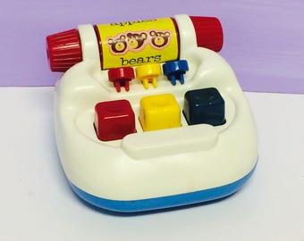 Vintage Tomy Typewriter, TomyTime, Ring-A-Dingy Typewriter, 1990s Tomy Toys, Educational Toys, Preschool, Pretend Play, Vintage 1990s Toys