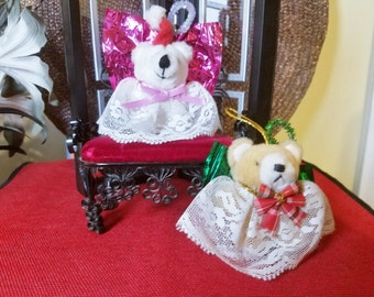 Teddy Bear Angel Ornaments