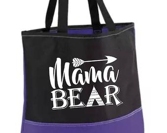 Mama Bear; Bag; Purse; Mom Bag; Mom Purse; pool bag; Mother's Day Gift; Mom; Mom Gift; Mother's Day