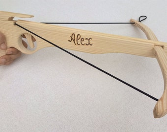 Crossbow Personalized Wood Toy - Custom Crossbow - Wooden Toy Medieval Crossbow - Personalized Toys - Name Engraved Birthday Gift