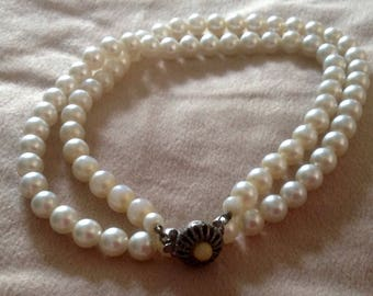 Necklace, Sarah Coventry Faux Pearl Necklace, vintage