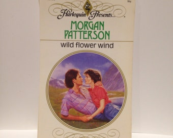 Recycled 80s Romance Novel Blank Spiral Notebook Wildflower Wind