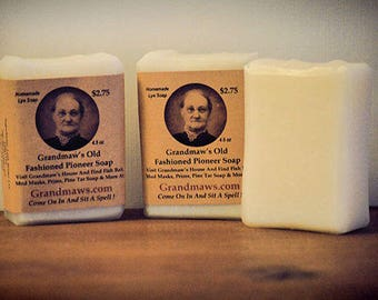 Grandmaws Old Fashioned Pioneer Soap / Handmade Soaps / Redneck Hillbilly Gifts