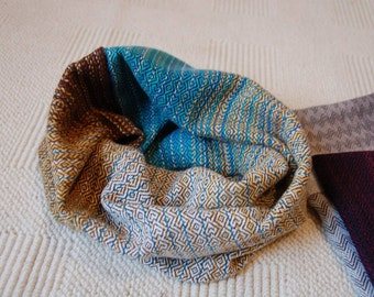 """Handwoven """"Charcoal"""" Cowl with Tencel Weft"""